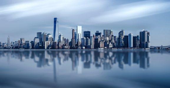 美国纽约城市建筑背景