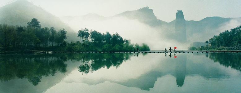山水中国风背景高清背景图片素材下载