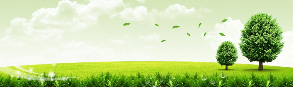 田园绿景banner背景图