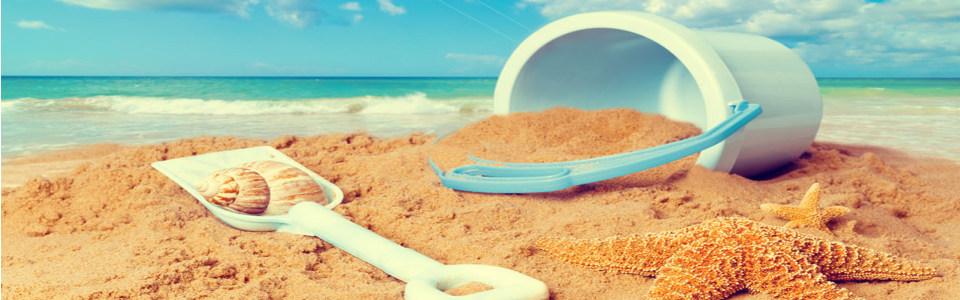 童趣沙滩淘宝海报背景