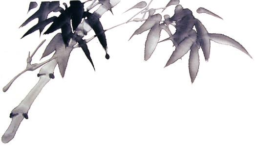 水墨竹子高清背景图片素材下载