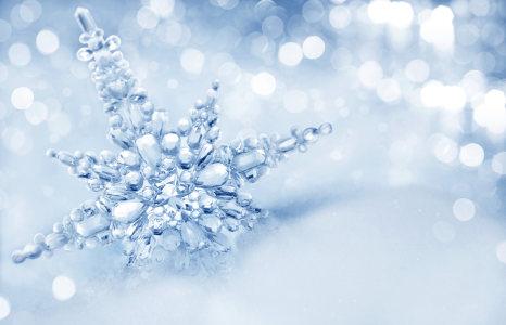 冬季雪花高清背景图片素材下载