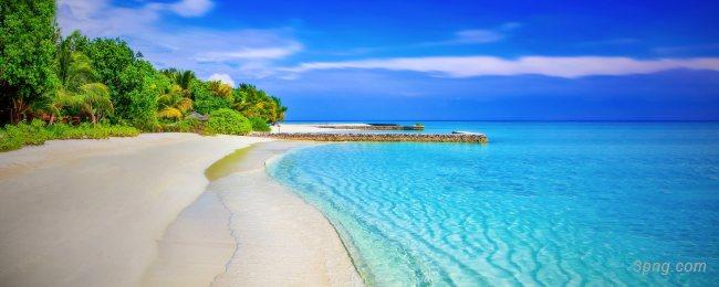 海滩风景背景背景高清大图-海滩背景自然/风光