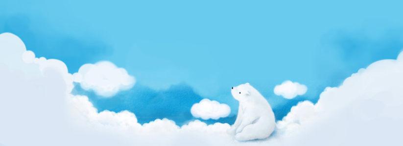 卡通北极熊高清背景图片素材下载