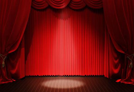 红色幕布舞台背景