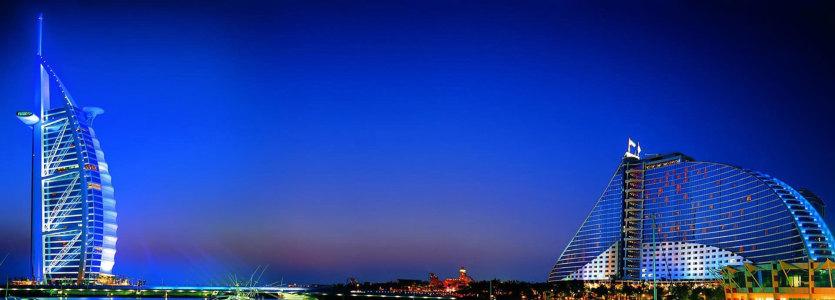 迪拜七星级酒店夜景banner壁纸