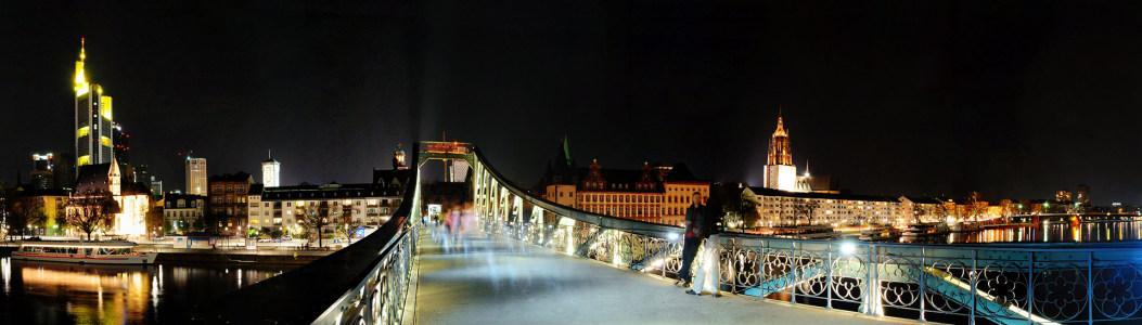 德国法兰克夜景海报背景图