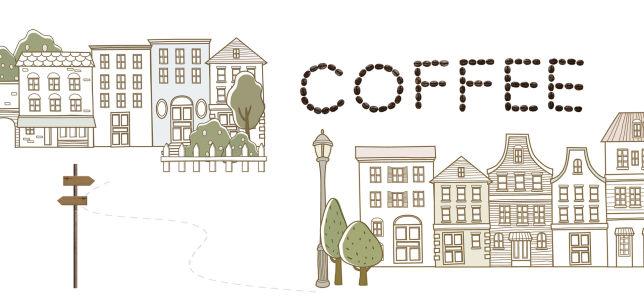 咖啡时尚生活简约背景