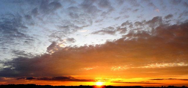 天空夕阳背景