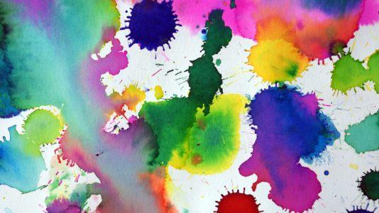 彩色泼墨高清背景