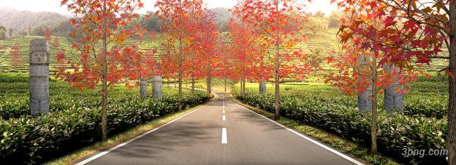 马路背景背景高清大图-马路背景自然/风光