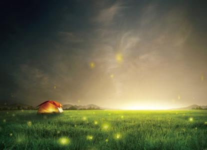 唯美夜空背景