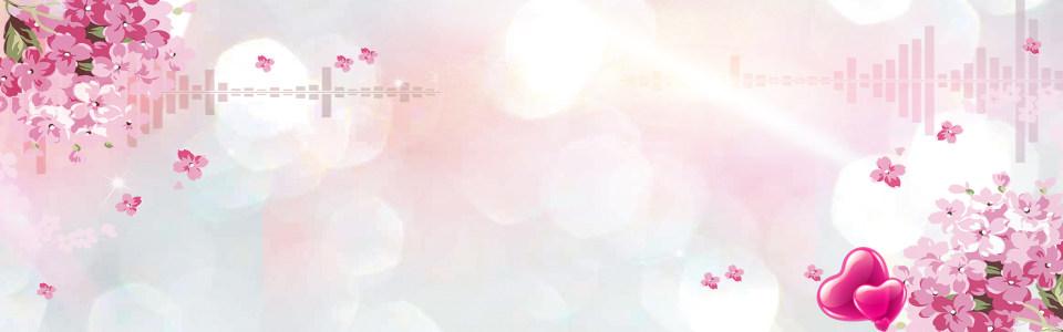 唯美花朵海报高清背景图片素材下载