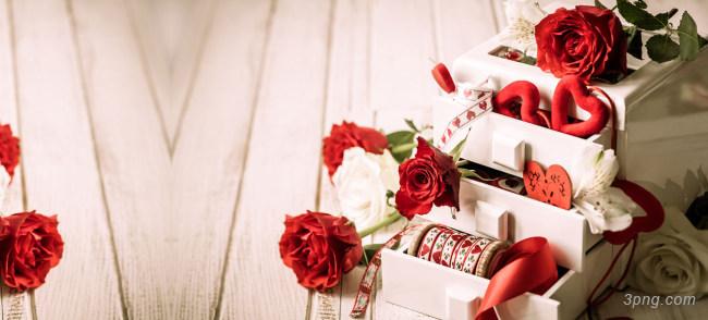 唯美大气盒装玫瑰花海报背景背景高清大图-盒装背景淡雅/清新/唯美