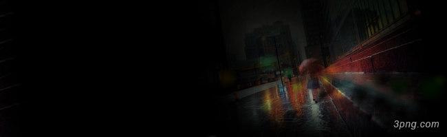 雨季街景唯美背景banner背景高清大图-街景背景淡雅/清新/唯美