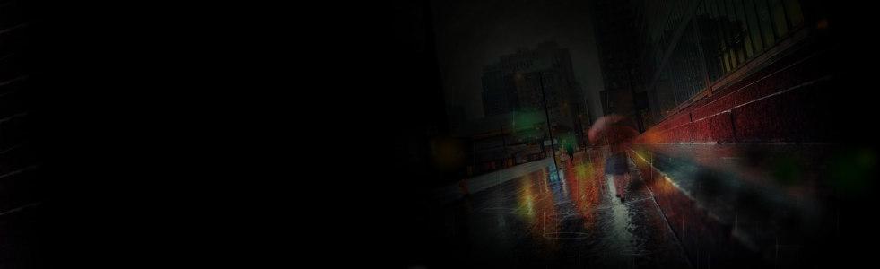 雨季街景唯美背景banner高清背景图片素材下载