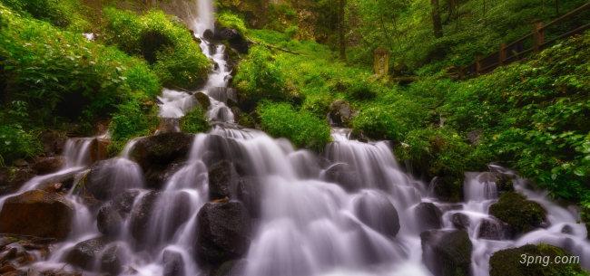 旅游景区瀑布背景背景高清大图-旅游景区背景自然/风光