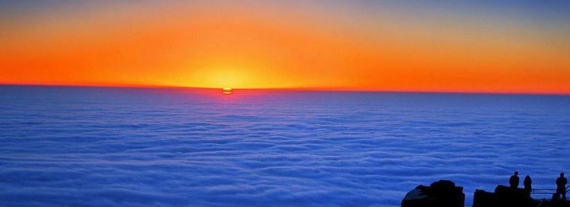 夕阳风景图