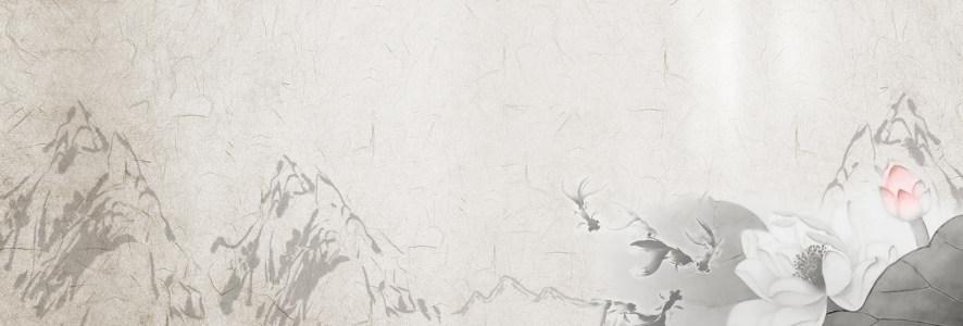 淡雅国画中国风背景