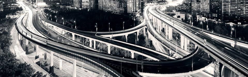 黑白大桥海报背景