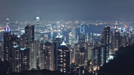 香港夜景高清背景图片素材下载