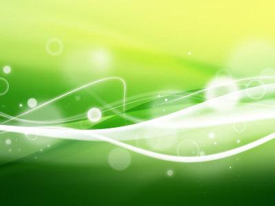动感光效绿色背景