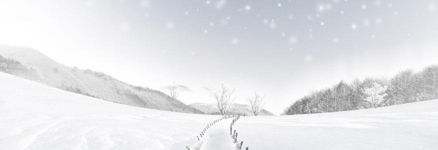 白色冰雪王国海报背景