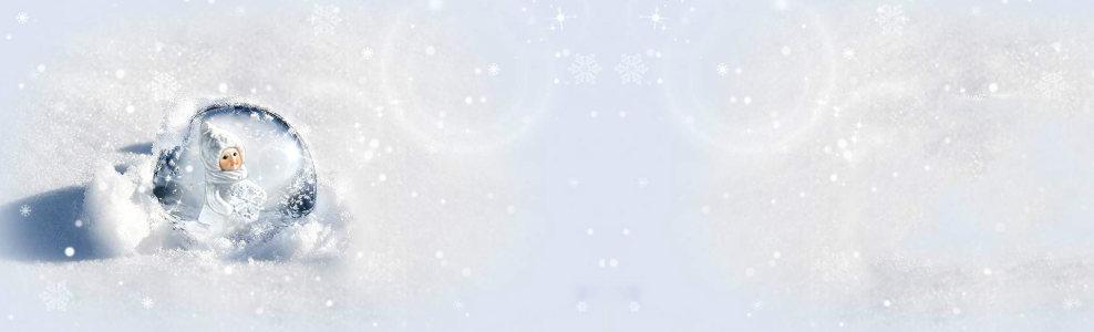 冬季水晶球背景banner