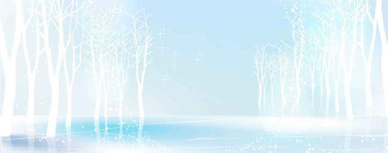 淘宝冬季背景海报