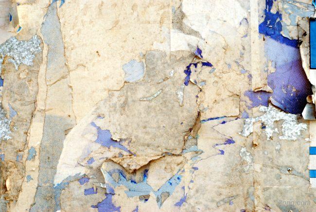 蓝色剥落斑驳的墙壁背景背景高清大图-剥落背景底纹/肌理
