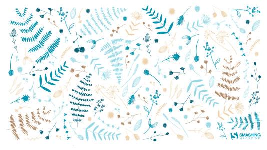 手绘水彩花纹背景