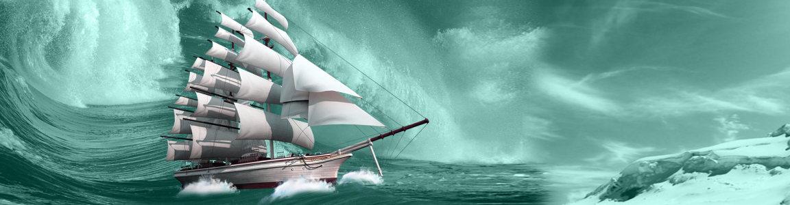 企业文化航海banner背景高清背景图片素材下载