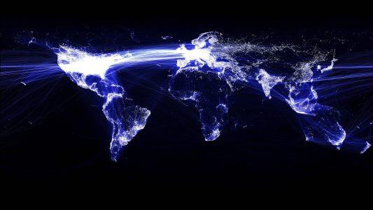 科技世界地图背景