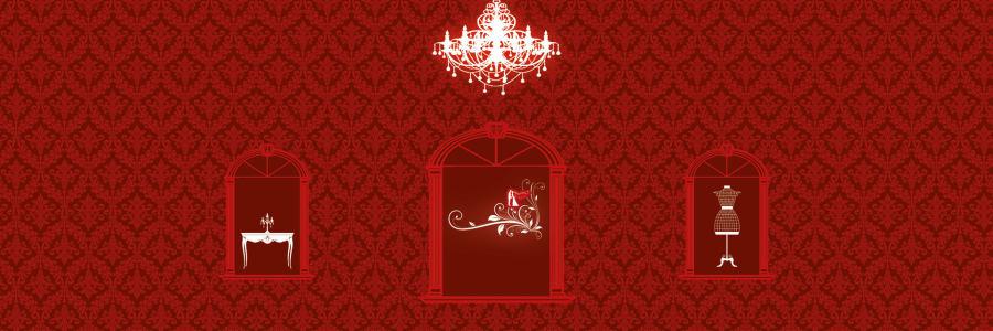 红色欧式浪漫婚礼背景高清背景图片素材下载