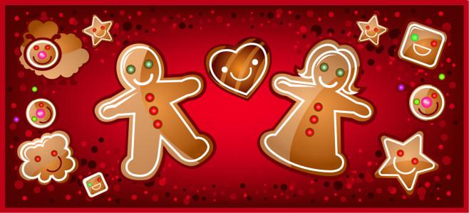 精致圣诞节饼干淘宝背景