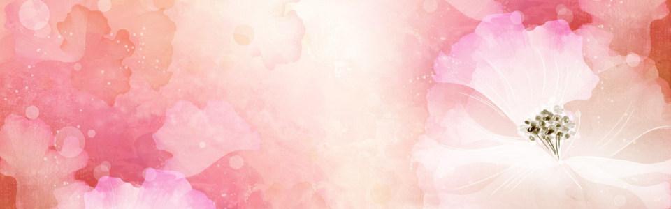 手绘粉色系花朵背景图