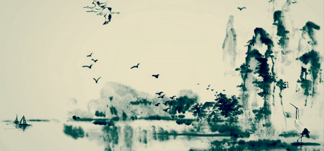 幽美淡雅的中国风背景高清背景图片素材下载