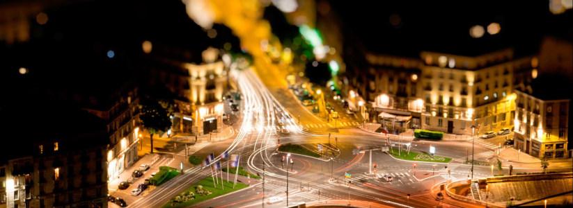 璀璨的城市街景高清背景图片素材下载