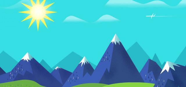 天空阳光雪山背景高清背景图片素材下载