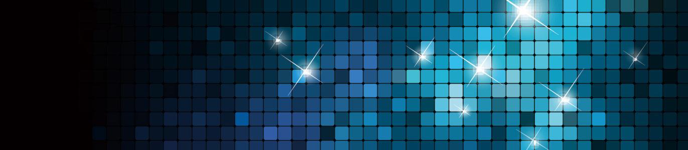 璀璨蓝色光束星光背景banner