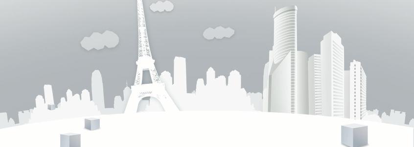 白色剪影清新背景banner高清背景图片素材下载