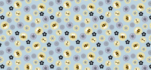 可爱卡通小蜜蜂纹理