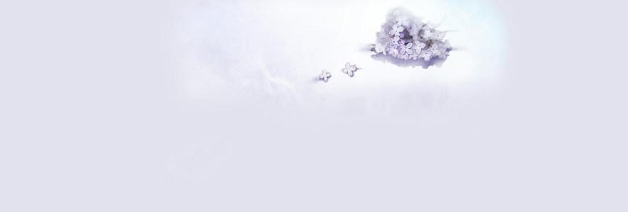 简约白色小花背景banner