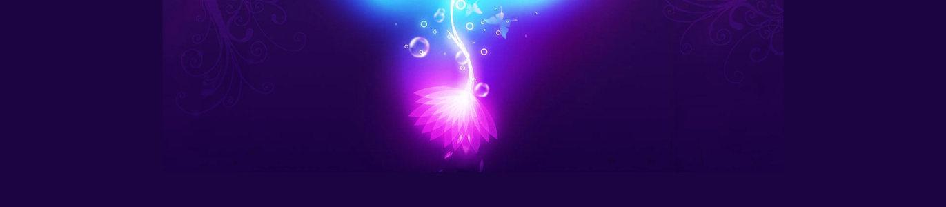 紫色梦幻花纹水泡背景banner高清背景图片素材下载
