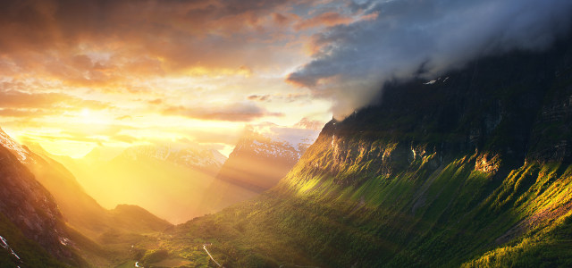 夕阳背景高清背景图片素材下载
