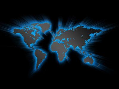 蓝色发光的世界地图背景高清背景图片素材下载
