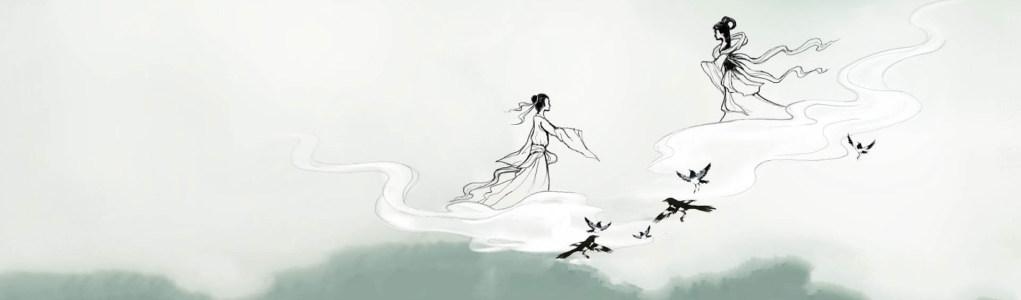 唯美淡雅中国风水墨画壁纸