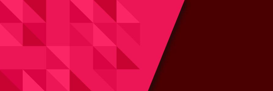 枚红色几何形banner背景