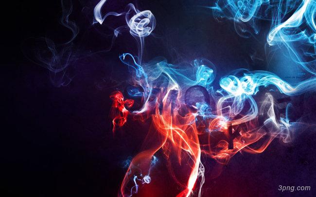 彩色烟雾背景高清大图-烟雾背景特效图片