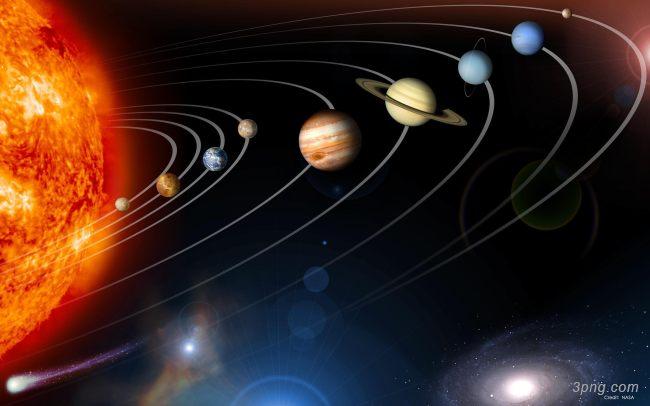 太阳系行星背景背景高清大图-太阳系背景科技/商务
